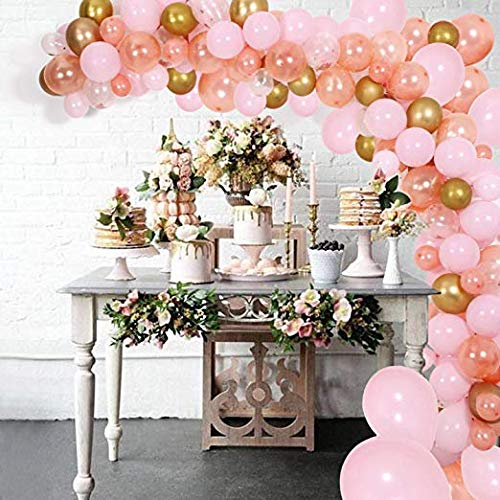 Erosion DIY Ballon Girlande Kit & Ballon Arch, Party Supplies Dekorationen, 140 Stück Rosa, Roségold & Konfetti Luftballons, Golden Ballons für Geburtstag, Hochzeit, Abschlussfeier, Baby-Dusche,