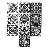 Shanrya Papel Pintado, Etiqueta engomada hermética del azulejo del PVC 10Pcs para la decoración casera