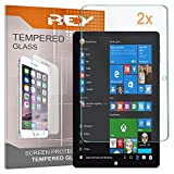 REY Pack 2X Pellicola salvaschermo per CHUWI Hi 10X 10.1 - Hi Book PRO, Pellicole salvaschermo Vetro temperato, di qualità Premium Tablet