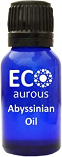 Abyssinian Oil 100% Natural, Organic, Vegan & Cruelty Free Essential Oil | Pure, Crambe Oil by Eco Aurous with Euro Dropper (10 ml(0.33 oz))