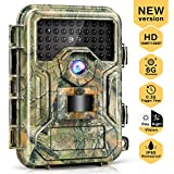 Liplasting Trail Game Camera 16MP 1080P Waterproof Scouting Hunting Trap Cameras with No Glow Night...