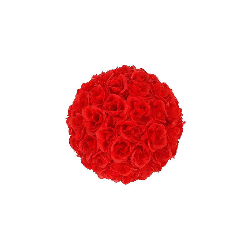 10 Pieces Flower Balls Wedding Decoration for Wedding Bouquets Centerpieces Bridal Shower Party Home Decorations Red