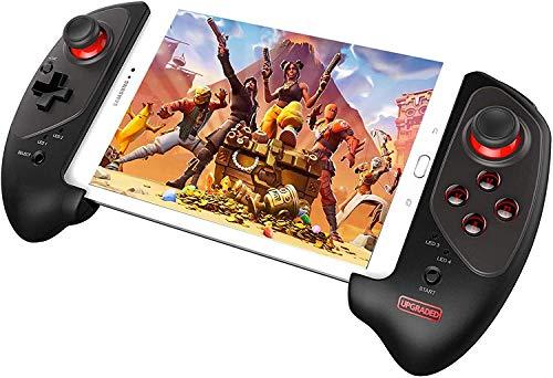 RENXR Wireless Gamepad avec 5-10 Pouces Support Télescopique Manette De Jeu/Contrôleur De Jeu pour Téléphone Portable/Tablet/Android/iOS/Android TV Box