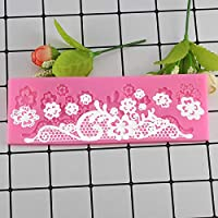 Mujiang Lace Pattern Silicone Cake Molds Forms Cake Border Decorative Candy Chocolate Flowers Baking Pastry Fondant Moulds
