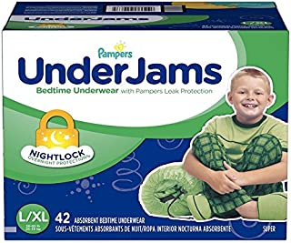 Pampers Underjams for Boys, L/xl, Size 8 (58-85 Lbs.), 40 Ct.