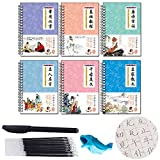 Mayplus 6Pcs/Set Reading and Writing Chinese, Learning Mandarin Chinese Practice Copybook Chinese Calligraphy Character Hanzi Learning with Erasable Pen, Quick and Easy Way to Learn Chinese Characters