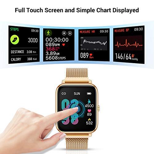 CanMixs Smartwatch Reloj Inteligente Mujer y Hombre, 1.4\'\' Impermeable IP67 Pulsera Actividad Inteligente con Monitor de Sueño, Pulsómetro, Pantalla Táctil Completa Reloj Fitness para Android y iOS