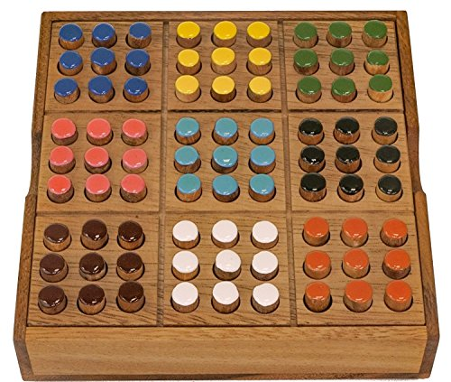 LOGOPLAY Memoria - EIN Gedächtnisspiel mit 2 Spielvarianten - Gesellschaftsspiel - Denkspiel - Brettspiel aus Holz mit farbigen Steckern