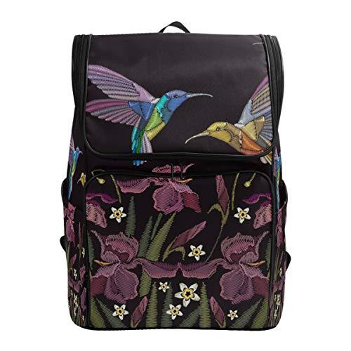 Ahomy Schulranzen Kolibri Blumen Wanderrucksack Cool Sport Rucksack Laptop Tasche Leichter Schulrucksack für Teenager Mädchen Jungen