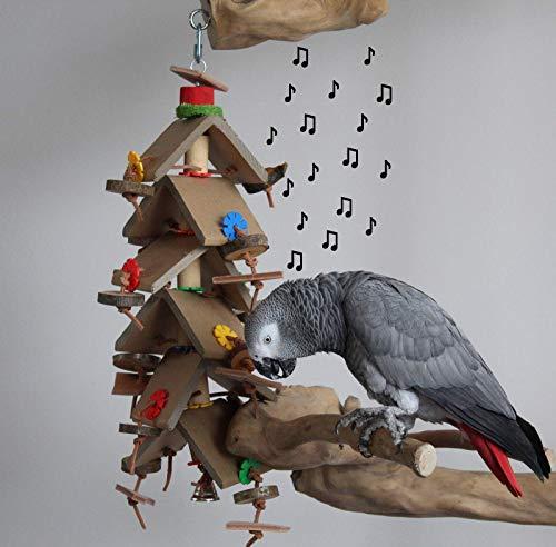 Papageienspielzeug GARFIELD Papageien Freisitz Shredder Party + Glöckchen