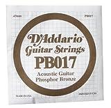 D'Addario PB017 Corde Seule pour Guitare Acoustique Phosphore Bronze .017