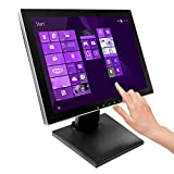 15' Pro Series Capacitive LED Backlit Multi-Touch Monitor, True Flat Seamless Design Touchscreen, Great for Office, POS, Retail, Restaurant, Bar, Gym, Warehouse, NO Driver Required (15 Inch)