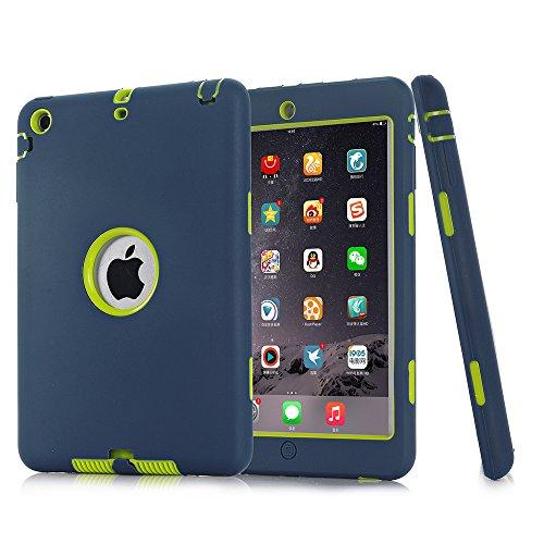 iPad Mini 2Hülle, iPad Mini 3Fall, nokea [kindgerechte Schutzhülle] Dämpfung Drei Schicht Armor Defender Full Body Schutzhülle für Apple iPad Mini 1/2/3, Navy Green
