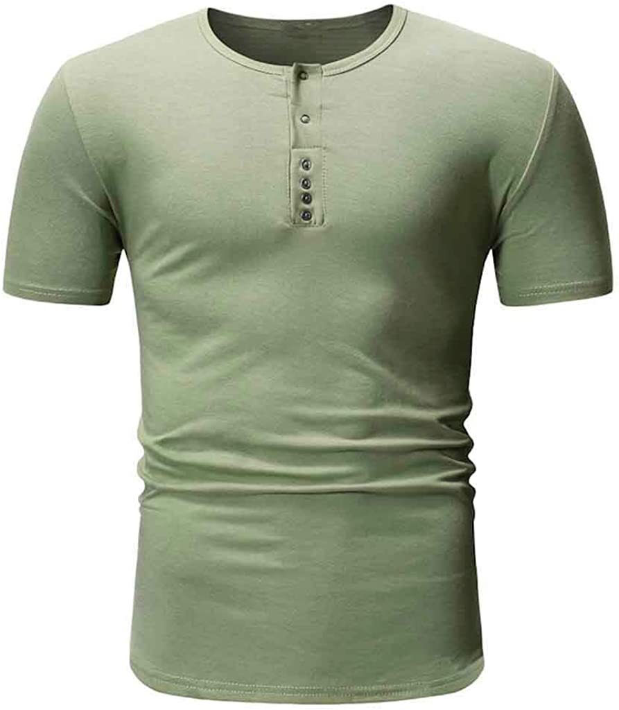 Forthery Fashion Men'S T-Shirt Retro Cotton Round Neck Tee Casual Short Sleeve Summer Slim Fit Top Blouse