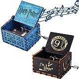 NAMIS 2 Piezas Caja De MúSica De Madera Caja de Musica Harry Potter Caja Musical Tallada a Mano del Tema Retro Caja de Música de Manivela Hand-Wooden Music Box Regalo de Cumpleaños Aniversario