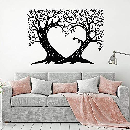 Rama calcomanías de pared amor romántico dormitorio sala de estar jardín de infantes decoración de interiores arte vinilo adhesivo de vidrio mural