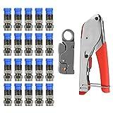 Coax Cable Crimper,Coaxial Cable Compression Tool...