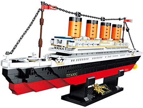 Modelo de bloque de construcción Titanic, rompecabezas de niño creativo DIY que ensambla bloques de construcción modelo de barco de juguete para adultos regalo para niños. 0958,1202pcs
