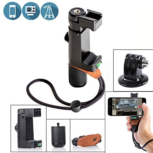 Sevenoak SK-PSC1 SmartGrip Handheld Stand Smartphone Mount Selfie Holder Filmmake Grip with Handle & Mounting Shoe & Hand Strap String for iPhone 8 8 Plus 7 7 Plus Samsung Galaxy S4 Note for Tripod