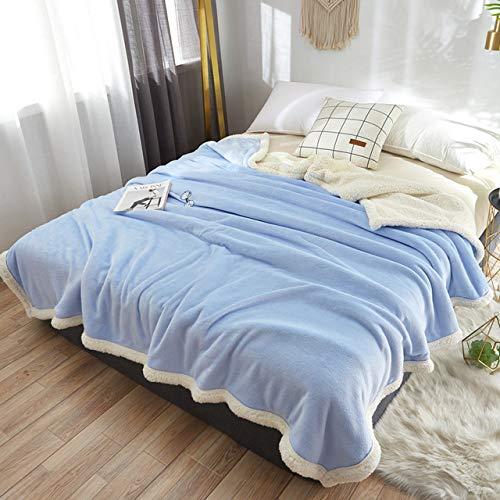 RTRHGDFFGFJHGDDTRHGHUG Lichtblauw Klein deken kantoor verdikt dutje deken student slaapzaal stapelbed deken (120x200CM)