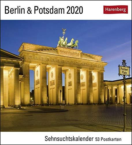 Berlin & Potsdam Postkartenkalender 2020. Wochenkalendarium. Blockkalender. Format 16 x 17,5 cm