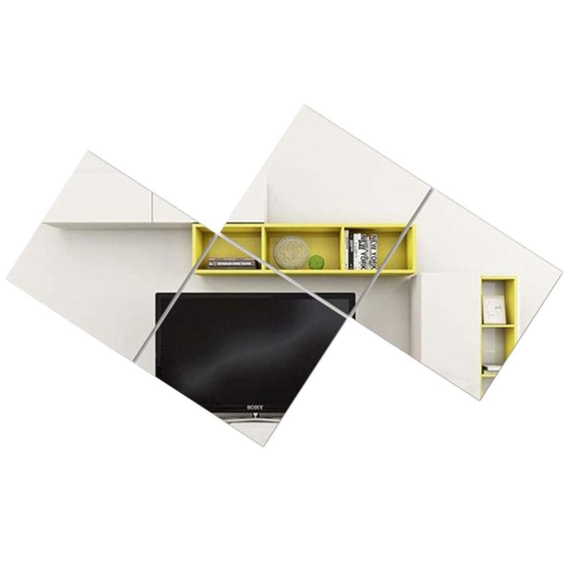 アパート凍結気味の悪いTYJ-JP 鏡壁ガラス鏡フレームレスコンビネーションミラー衣料品店用鏡マルチスプライシングミラーギフト (Color : Silver, Size : 45*45cm)