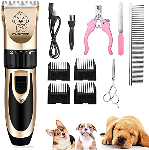 Eyeleaf Pet Dog Grooming Clippers - Rechargeable Low Noise Cordless Pet...