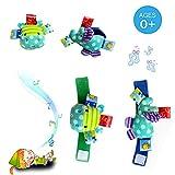 Morbuy Baby Infant Soft Toys niedliche Animal Handgelenk-Rasseln 2 pc Hände Finder Entwicklungs-Toys-Flusspferd und Elefant Spielzeug Urlaub
