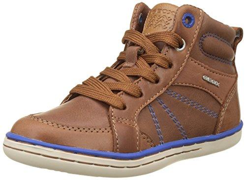 Geox Jungen JR Garcia Boy B Hohe Sneaker, Braun (Cognac/Royal), 31 EU