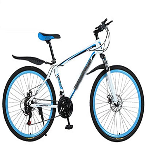 WXXMZY Aluminum Alloy Bicycles, Carbon Fiber Male And Female Bicycles, Dual Disc Brakes, Ultra-light Integrated Mountain Bikes (Color : A, Inches : 26 inches)