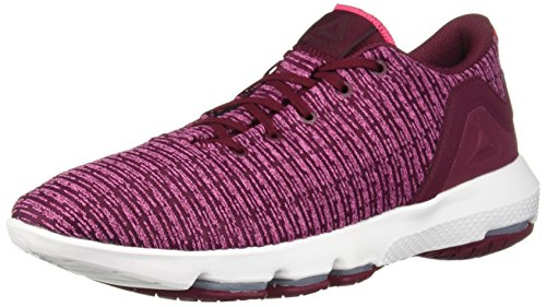 Reebok Women's Cloudride DMX 3.0 Walking Shoe, Rustic Wine/Twisted Pink, 11 M US