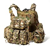 Military Modular Assault Vest System Compatible with 3 Day Tactical Assault Backpack, OCP Camouflage