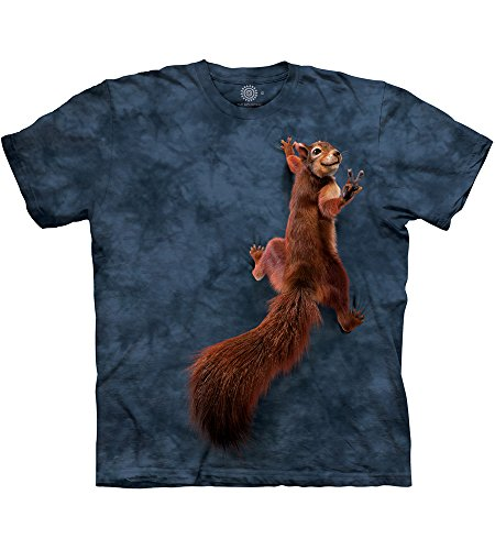 The Mountain Peace Squirrel Adult T-Shirt, Grey, Large