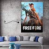 aicedu 1 Unidades HD Cartoon Photo Garena Free Fire Poster Painting Wall Sticker Free Fire Battlegrounds Poster Wall Art Painting-40X60Cm