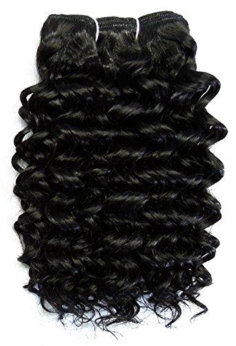 chear Disco Jerry trame Extension de cheveux humains avec de mélange tissage, numéro 1b, noir, 35,6 cm