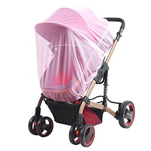 Gosear Universal Mosquito Insecto Mosquito Bug Seguro Mesh Funda Neto para Cochecitos de Bebé Cochecitos Cunas Cunas Cochecitos Carritos Rosa