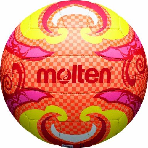 molten Beachvolleyball Unisex, mehrfarbig (orange/gelb/pink), 5, V5B1502-O