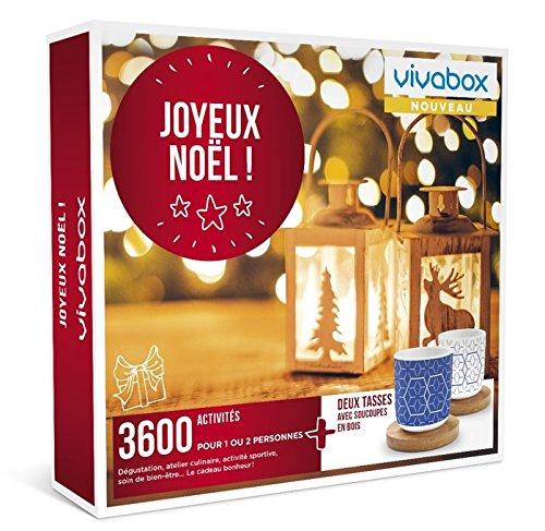 Vivabox - Coffret cadeau noel - JOYEUX NOEL ! - 3600 activités : soins, repas, sport… + 2 tasses