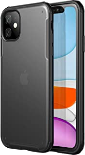 """Amozo iPhone 11 Cases and Covers   Beetle Series Matte Semi Transparent Shockproof Anti Slip Case Cover with Camera and Screen Protection for iPhone 11 (6.1"""")"""