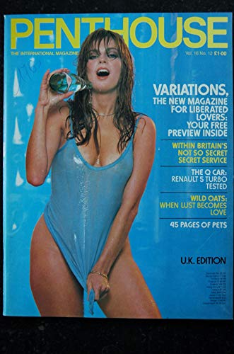 PENTHOUSE UK Vol 16 N° 12 COVER VICTORIA JOHNSON JULIA PERRIEN RENAULT 5 TURBO TESTED