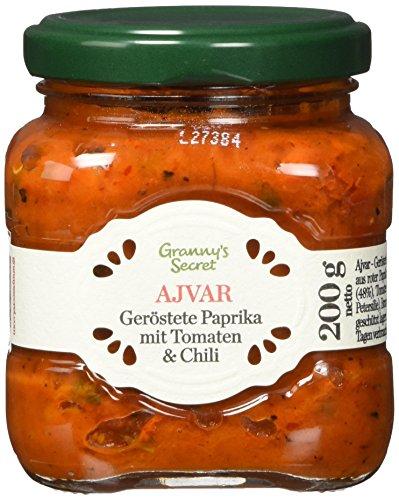 Granny´s Secret Ajvar Geröstete Paprika mit Tomaten & Chili - Original aus Serbien (1 x 200 g)