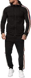 Men Tracksuit 2 Piece/Autumn Gradient Zipper Print Sweatshirt Pants Tracksuit