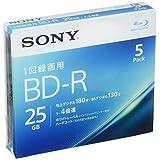 ソニー ビデオ用ブルーレイディスク 5BNR1VJPS4(BD-R 1層:4倍速 5枚パック)