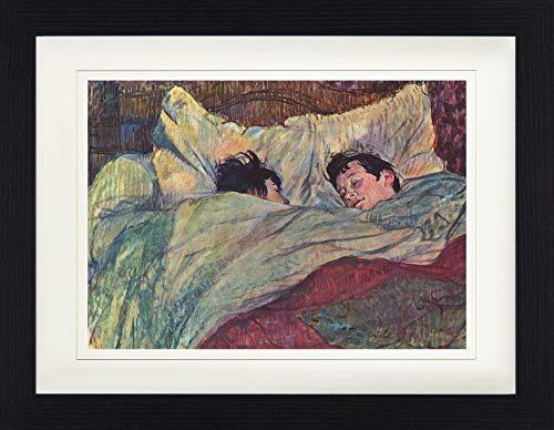 1art1 Henri De Toulouse-Lautrec - Das Bett, 1893 Gerahmtes Bild Mit Edlem Passepartout | Wand-Bilder | Kunstdruck Poster Im Bilderrahmen 40 x 30 cm