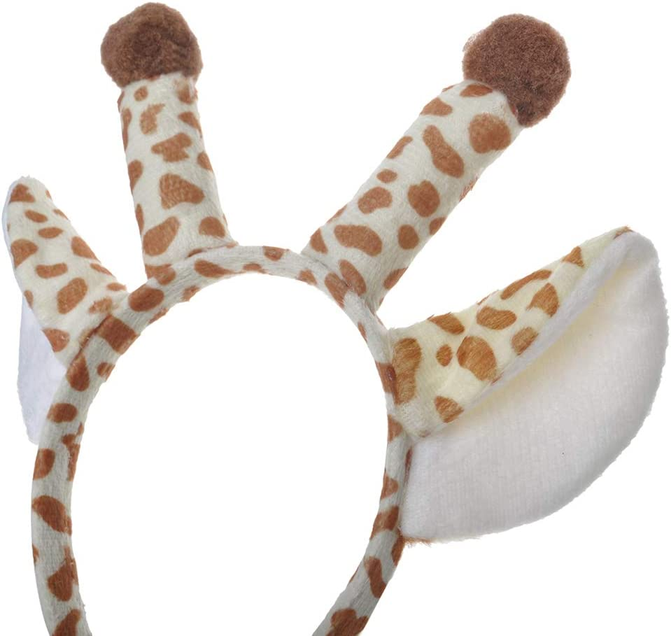 TOPTIE 6 PCS Pig Zoo Animals Ears Headband, Halloween Decor for Adults & Kids, Jungle Safari Animals Hair Hoop for Birthday Party Favors