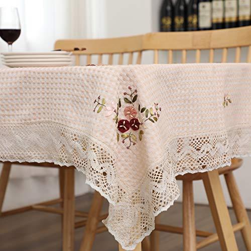 Mantel redondo de poliéster sólido impreso floral moderno mantel de mesa redonda boda restaurante fiesta