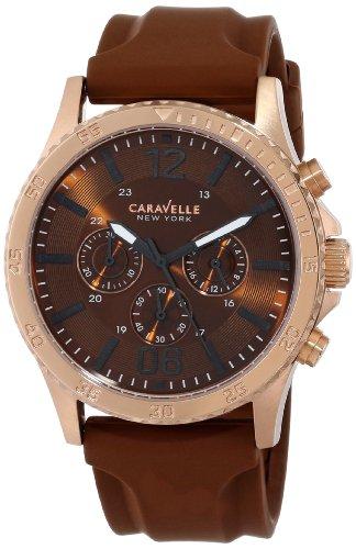 Caravelle New York Men's 44A102 Analog Display Japanese Quartz Brown Watch