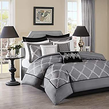 Bombay Teramo Multi Piece Comforter Set, Queen, Grey