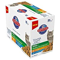 Hill's Science Plan Kitten Tender Chunks in Gravy Original Selection comprises pouches with Chicken and Ocean Fish and is formulated to support immunity and digestive health, with clinically proven antioxidants and optimal levels of DHA from fish oil...