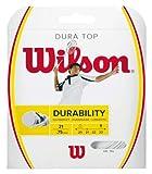 Wilson Dura Top Cordaje de bádminton, Poliamida, 10 m, Unisex, Blanco, Grosor 0,75 mm
